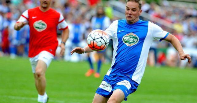 Fotbalista Švancara si splnil sen a zahrál si na oživeném stadionu v brněnských Lužánkách