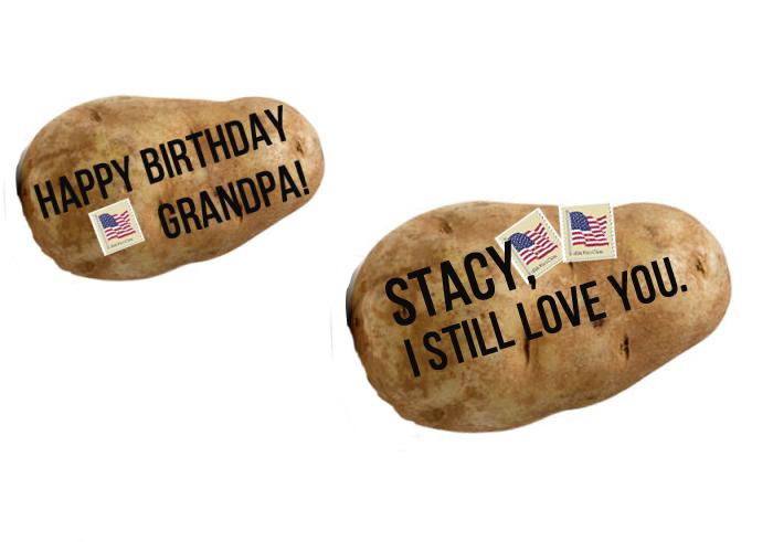 Dopis na bramboře? Z vtipného nápadu se stalo úspěšné podnikání