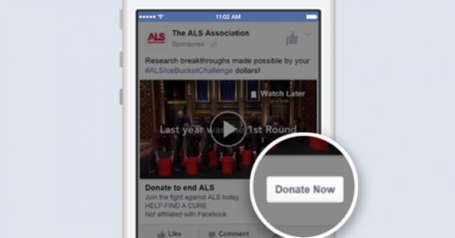 """Facebook vytvořil tlačítko """"darovat"""" pro neziskové a charitativní organizace"""