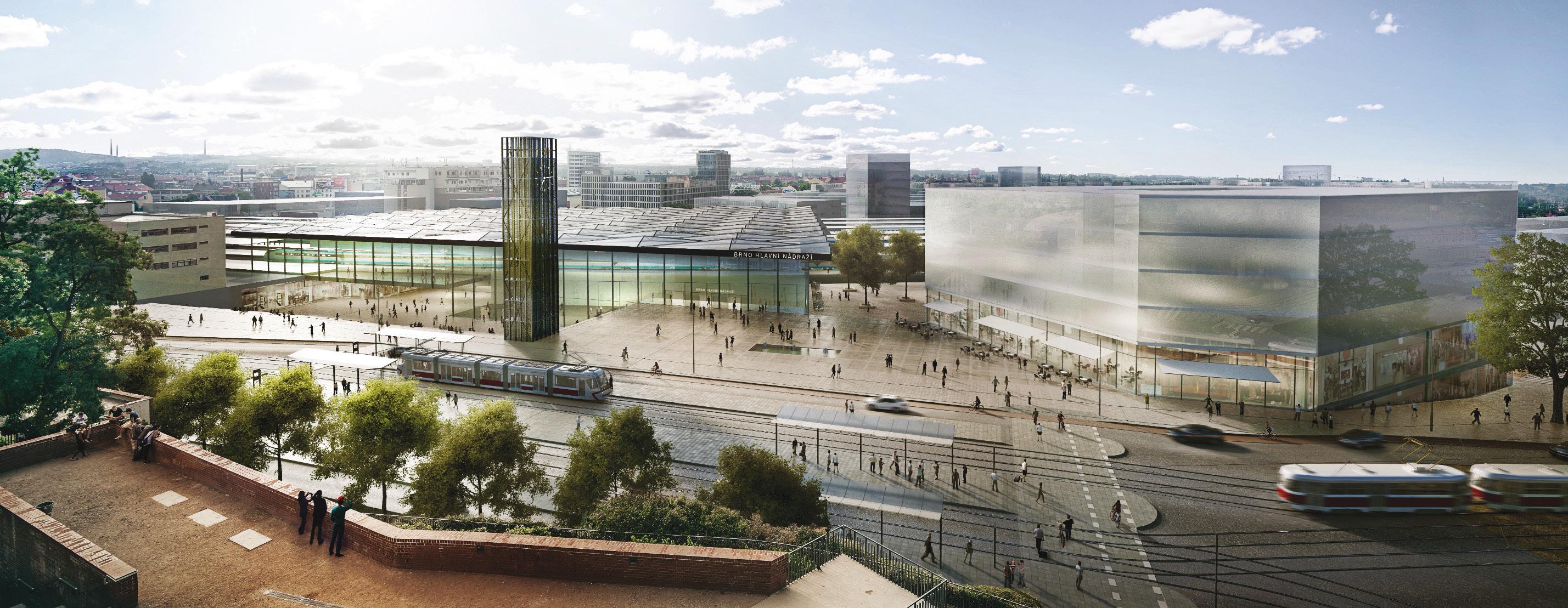 Místo šedých ulic park plný zeleně. Brno má plán na novou podobu nádraží