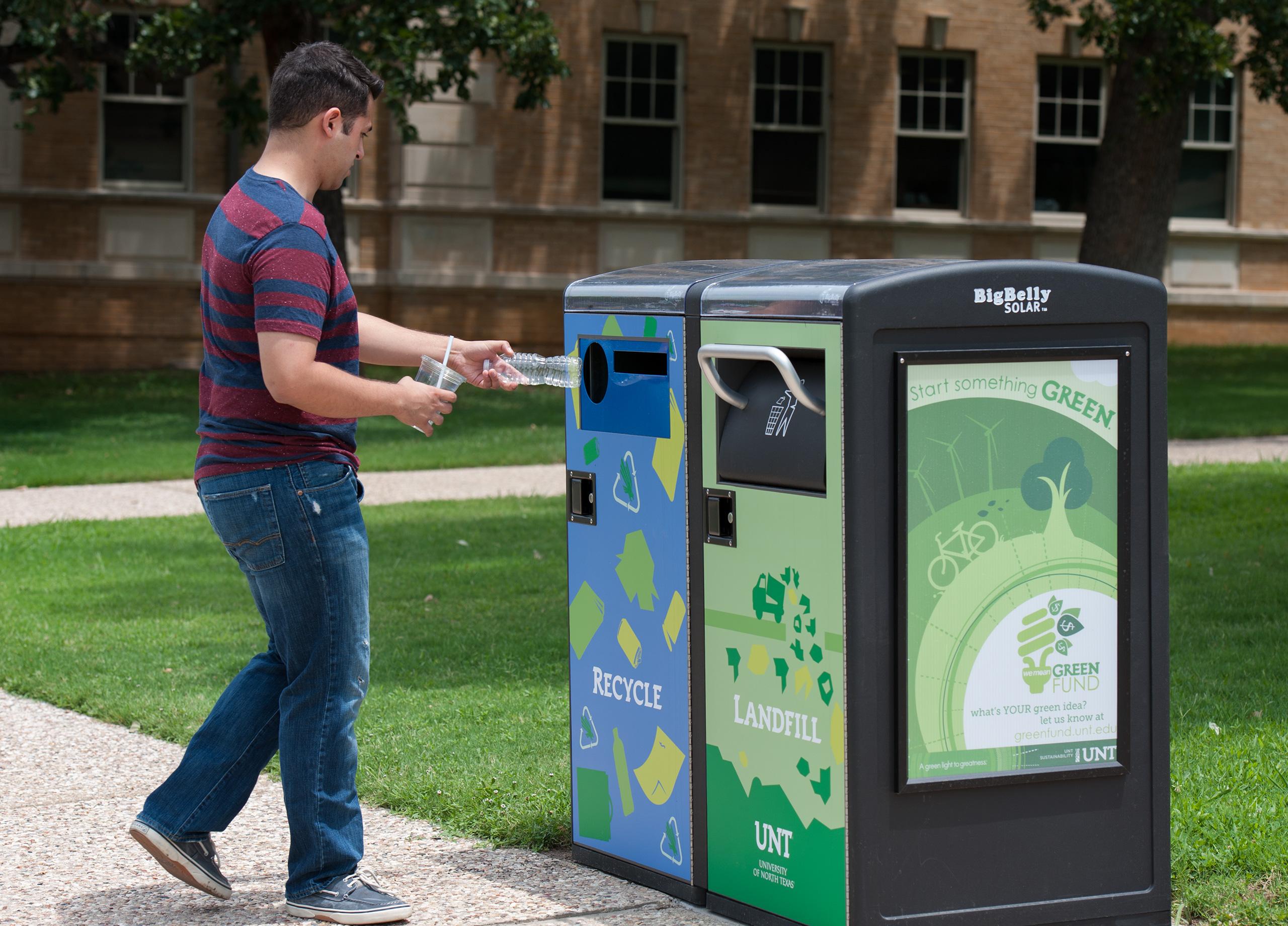 Ekologické koše dokážou slisovat odpad na zlomek původní velikosti