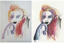 Umělkyně vytváří originální obrazy ve spolupráci se svou malou dcerou