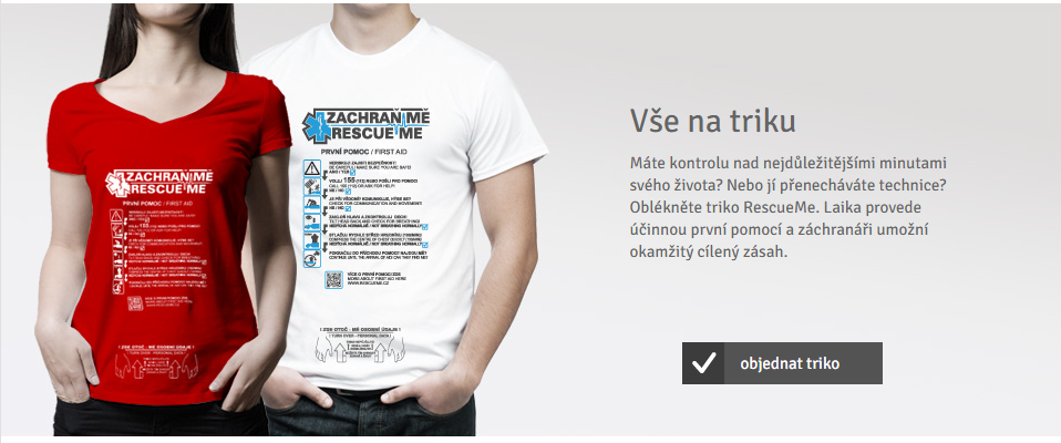 Speciální tričko pomáhá při záchraně člověka a první pomoci