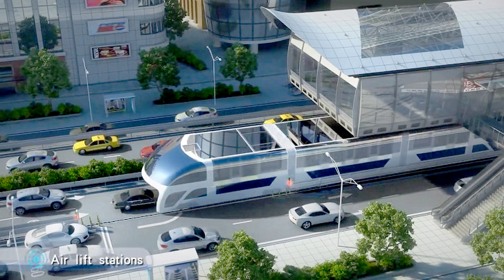 Číňané zavádějí do městské dopravy futuristické autobusy