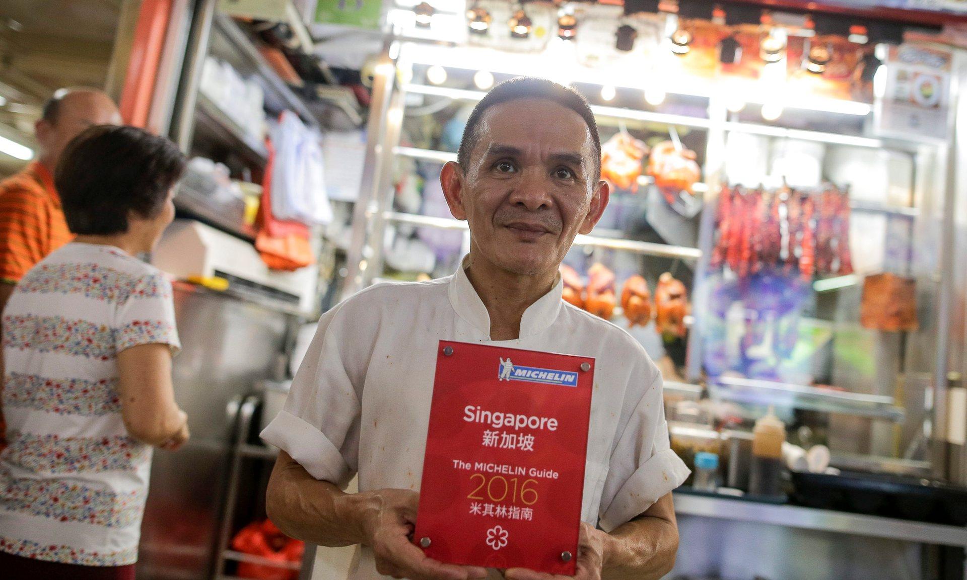 Singapurský pouliční stánek obdržel Michelinskou hvězdu