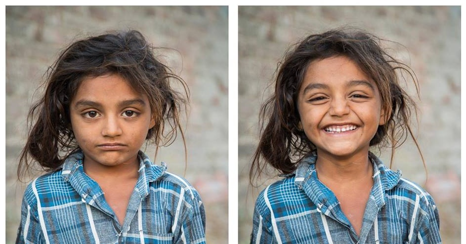 Originální fotosérie ukazuje, jak úsměv mění lidské tváře