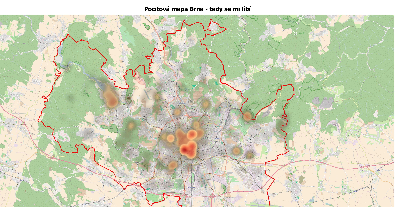 Pocitová mapa v Brně pomáhá změnit tuto moravskou metropoli