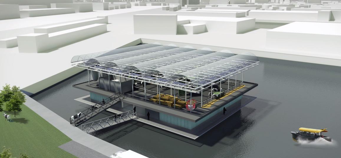 V Rotterdamu vznikne ekologická farma plovoucí na vodě