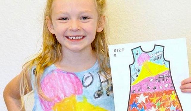 Firma vyrábí dětem oblečení na míru podle jejich návrhů