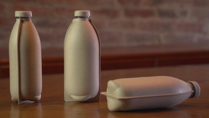 Start-up sklízí úspěch s nápadem papírové kompostovatelné lahve