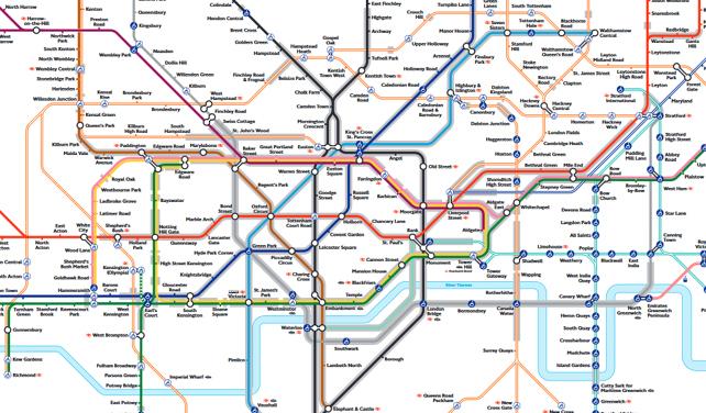 Nová mapa londýnského metra pomůže cestujícím s klaustrofobií