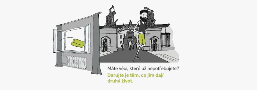 Praha spustila portál, kde můžou lidé darovat nepotřebné věci