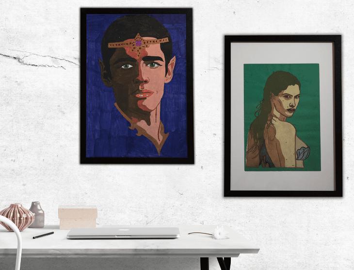 Lidé bez domova draží na Aukru svoje umělecká díla