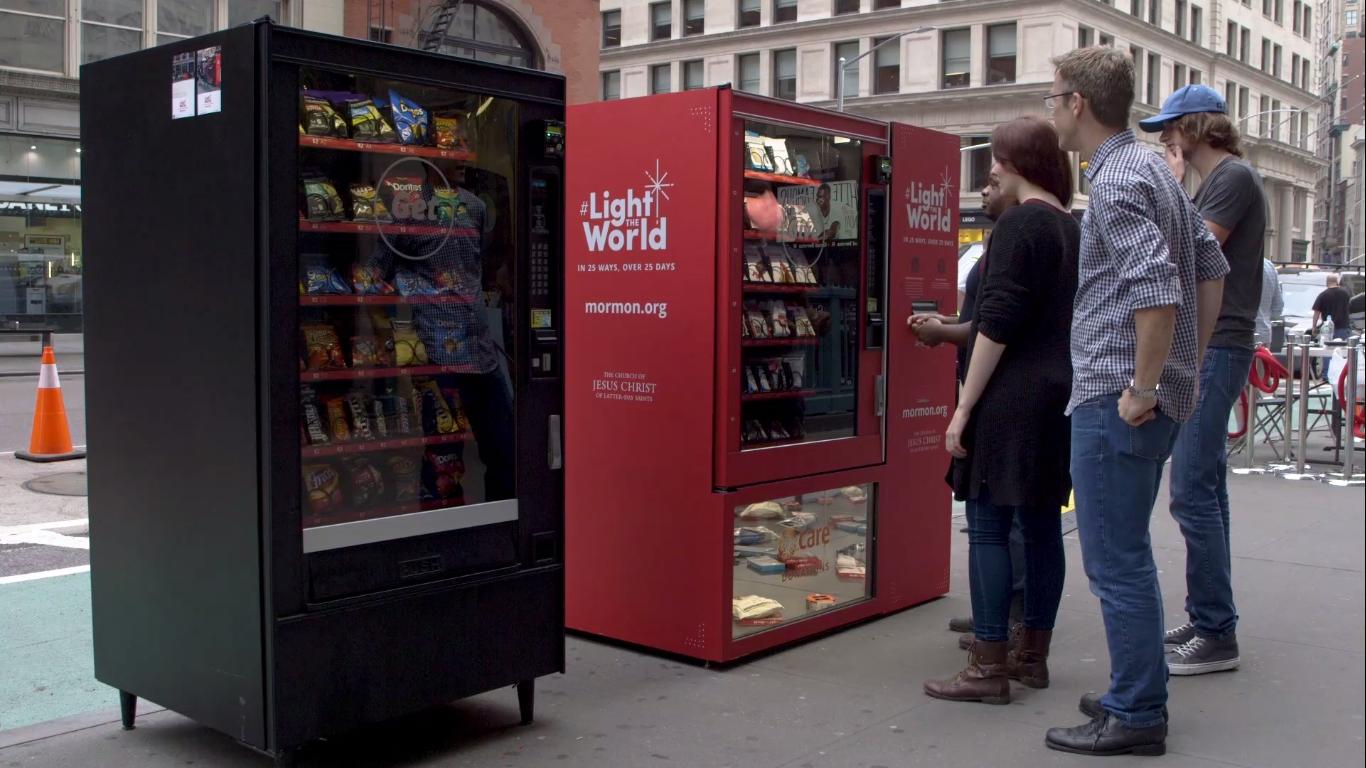 V Americe začal fungovat charitativní prodejní automat