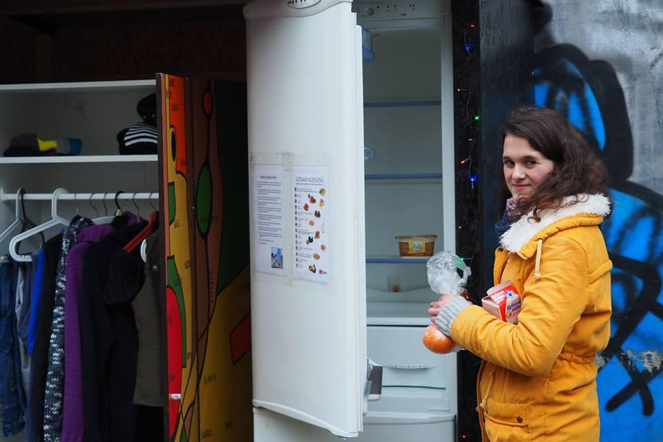 Brno má nově svoji první veřejnou skříň a lednici