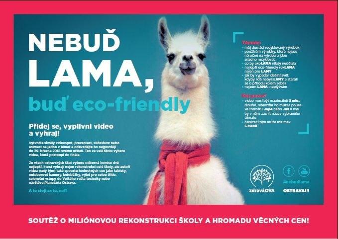 Nebuď lama, buď eco-friendly. Ostravské základky soutěží v ekologii