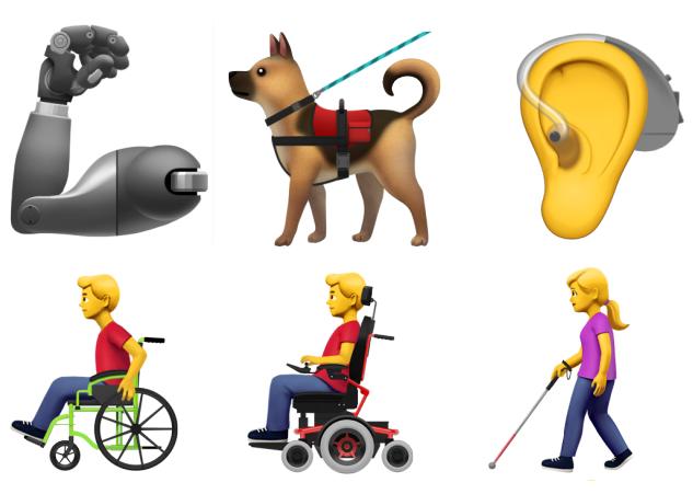 Apple chystá speciální sadu smajlíků pro handicapované