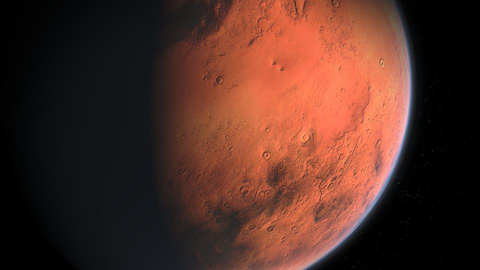 Našli jsme na Marsu jezero, kde může existovat život, oznámili vědci