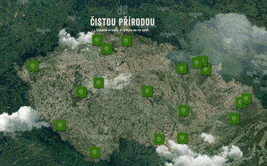 Projekt Čistou přírodou mapuje trasy, které turistům umožňují třídit odpad
