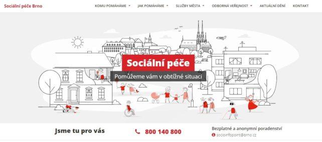 Inovovaný portál o sociální péči pomůže Brňanům v obtížné situaci