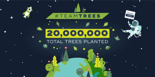 Youtubeři vybrali 20 milionů dolarů na výsadbu stromů. Přispěl i Elon Musk
